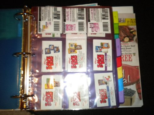 9 pocket page with coupons