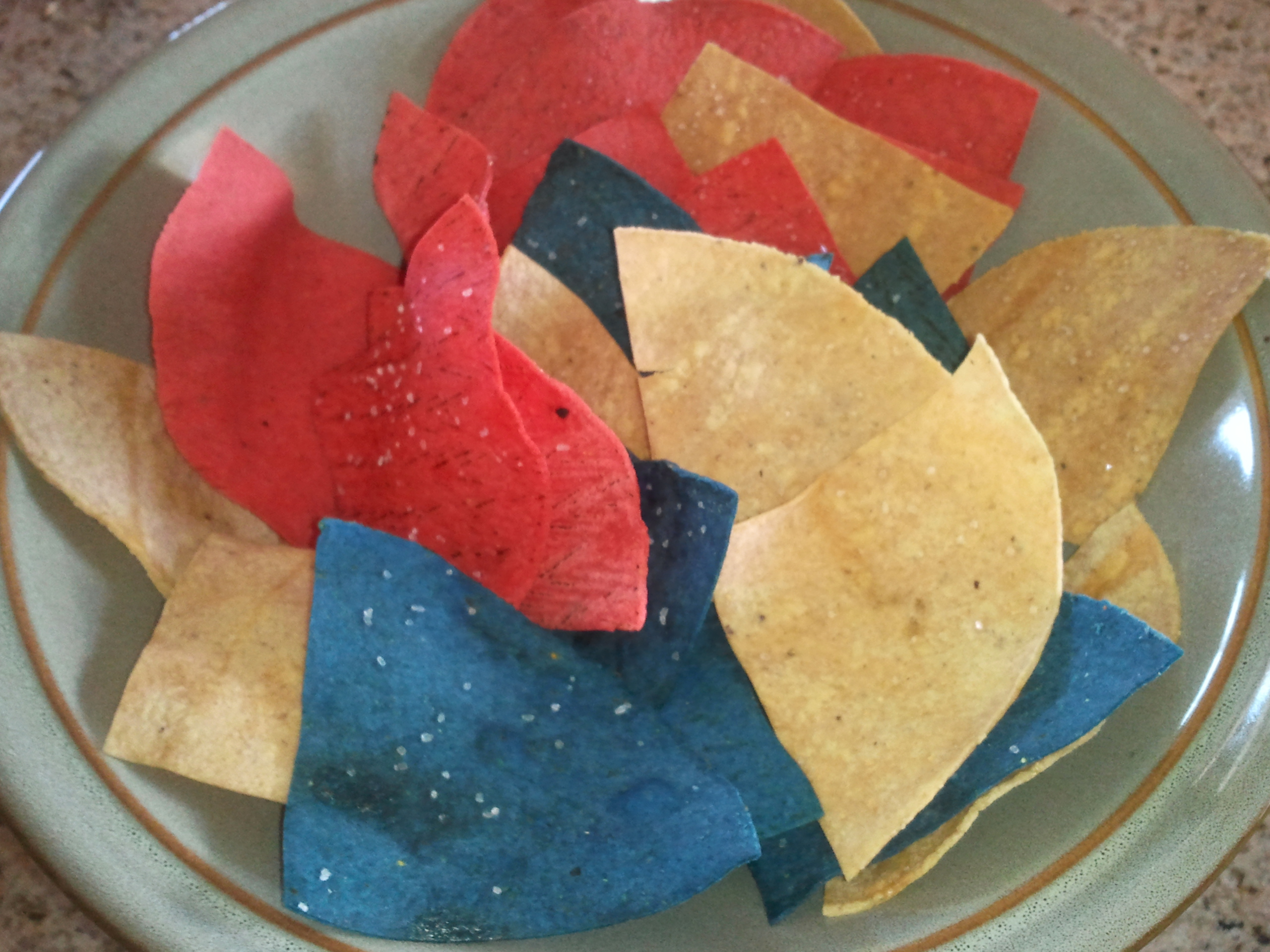 colored tortilla chips images