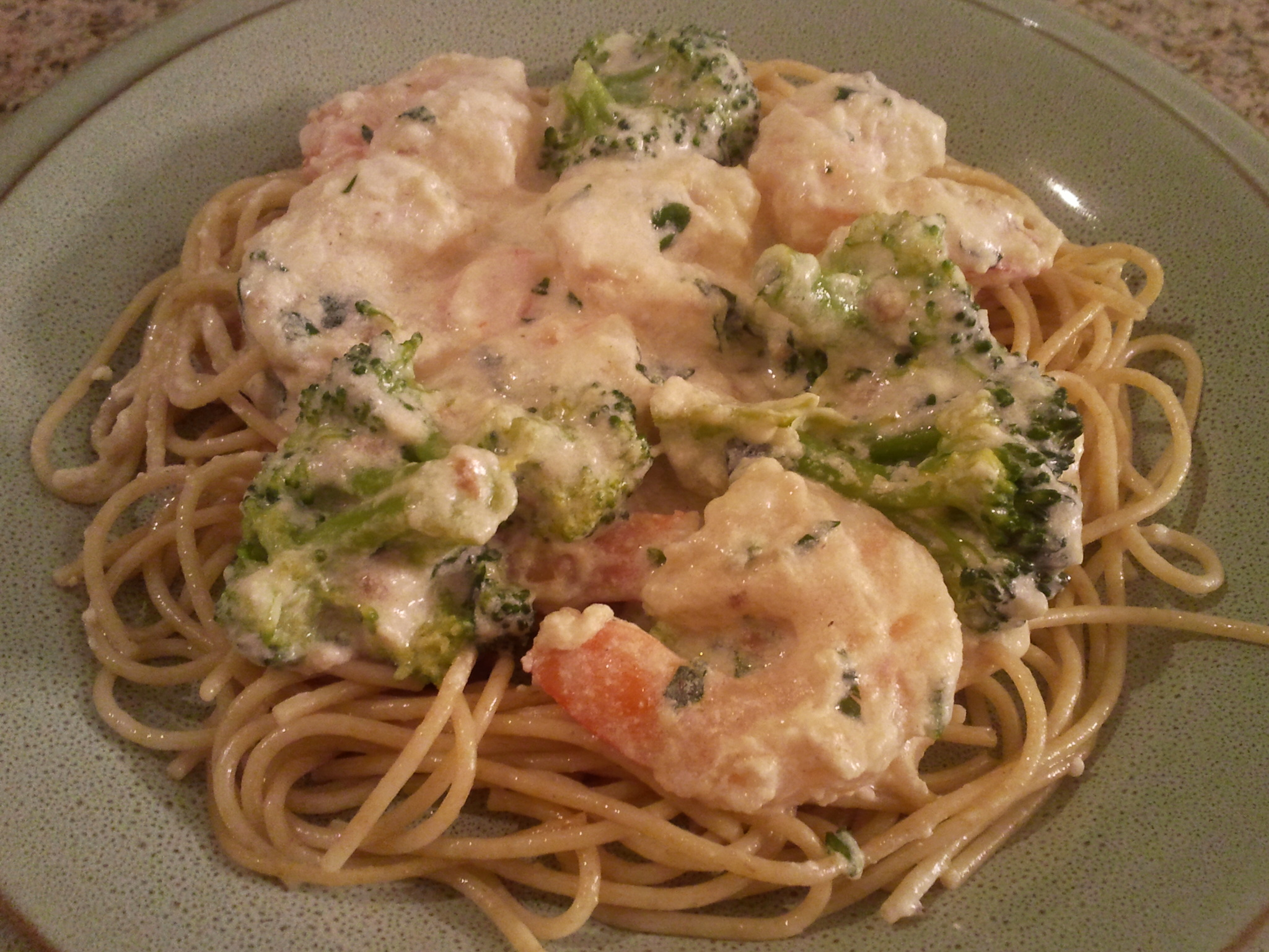 Shrimp & Broccoli Alfredo | My Gems of Parenting