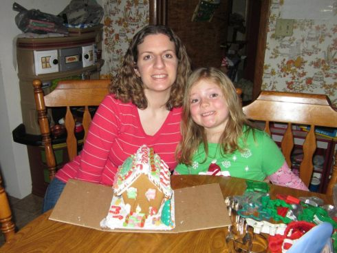 K & K with the 2012 Gingerbread House