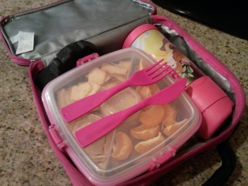 Salad To Go in lunch box with Thermos FUNtainer and ice pack