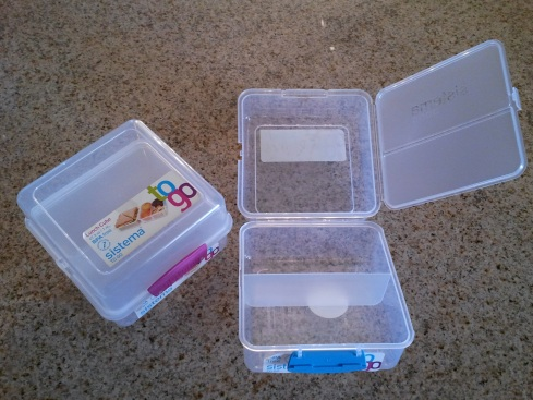 How the Lunch Cube To Go looks opened