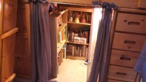 Bookshelves in reading hideaway