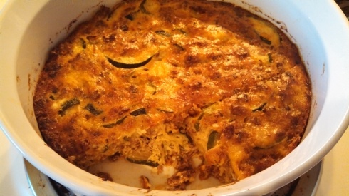 Summer Squash, Sausage and Egg Bake