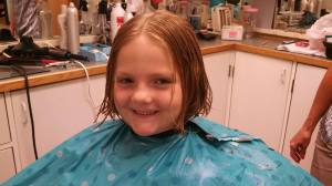 Katie just after the cut