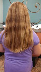 Katie's hair before