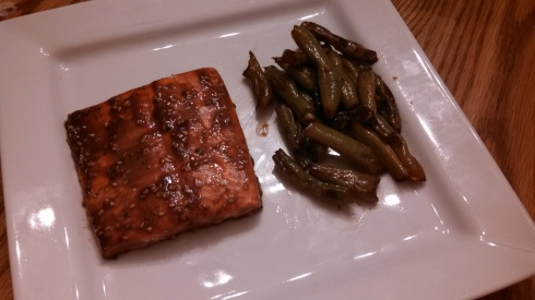 Salmon with Honey Balsamic Glaze