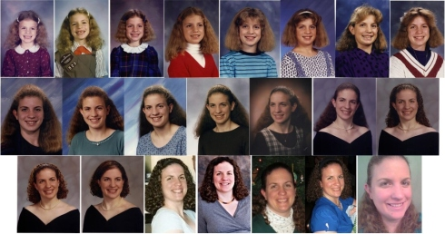 Photos of my hair over the years