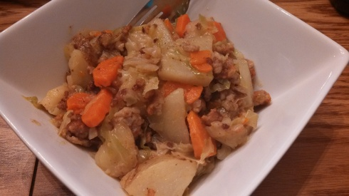 Sausage, Cabbage, and Potato Dinner