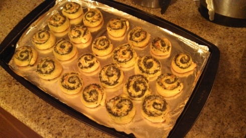 Finished Pesto Pinwheels