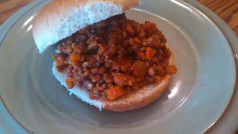Sloppy Joes with Ground Beef and Lentils