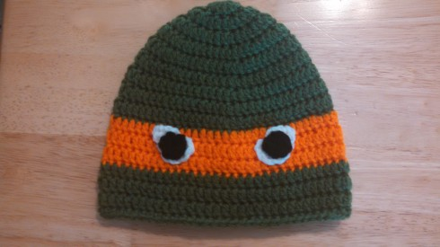 Front of Ninja Turtle Hat