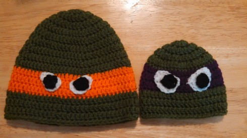 Orange and Purple Ninja Turtles