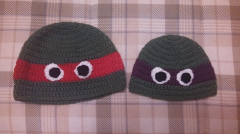Red and Purple Ninja Turtles