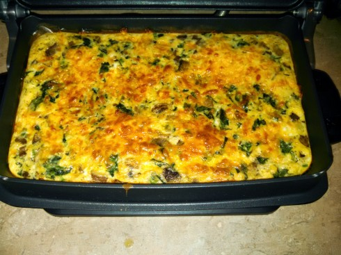 Crustless Quiche in the George Foreman Evolve Grill
