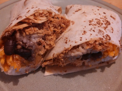 Chicken, Rice, and Black Bean Burritos