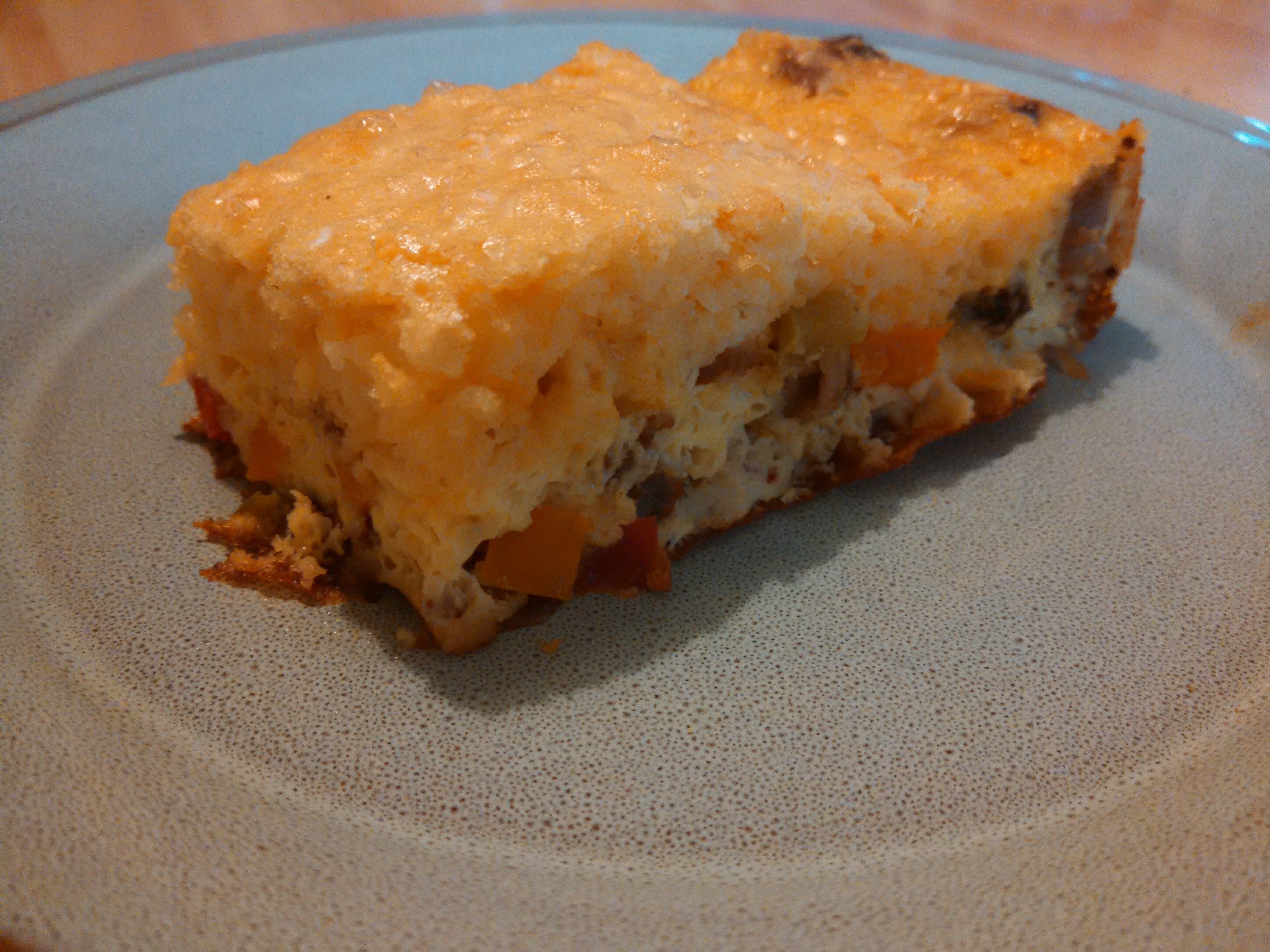 Cheesy Sausage, Onion, and Pepper Breakfast Casserole