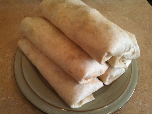 Finished Burritos with Pork Carnitas